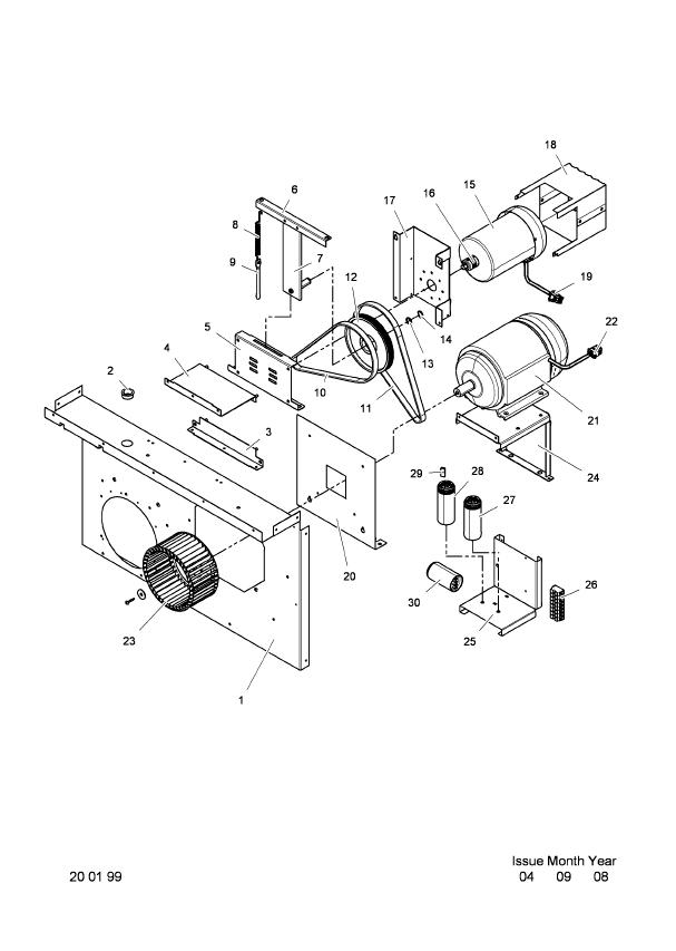 Electrolux Model T4250 Drive Motor Industrial Laundry